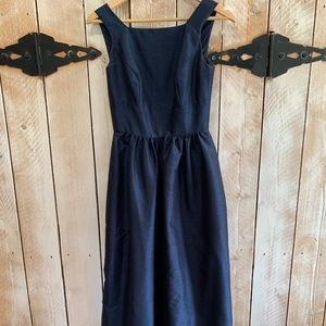 ALFRED SUNG Navy Formal Gown